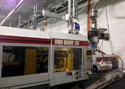 Photo of a 120 ton Van Dorn plastic injection molder from 1997