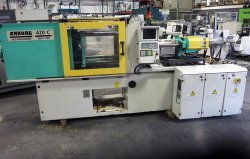 Two 110 ton Arburg used plastic molding machines for sale from 2000