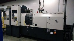 Used Demag vertical rotary plastic molder from 2000