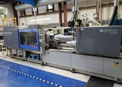 Used 300 ton Sumitomo electric plastic molder from 2001