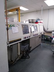 Photo of a 65 ton Toshiba All-Electric used injection molder from 2002
