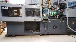 A used 83 ton Sumitomo all-electric plastic injection molder for sale from 2002.