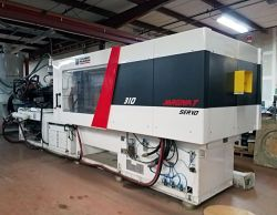 A view of a 2015 309 ton Milacron used injection molder for sale
