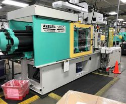 Used Arburg 242 ton plastic injection molder for sale