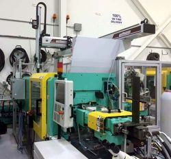 Used 77 ton Arburg 2 shot plastic molder from 2008